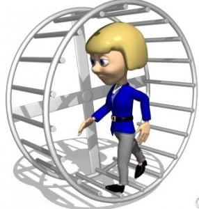 Hamster wheel3 - woman